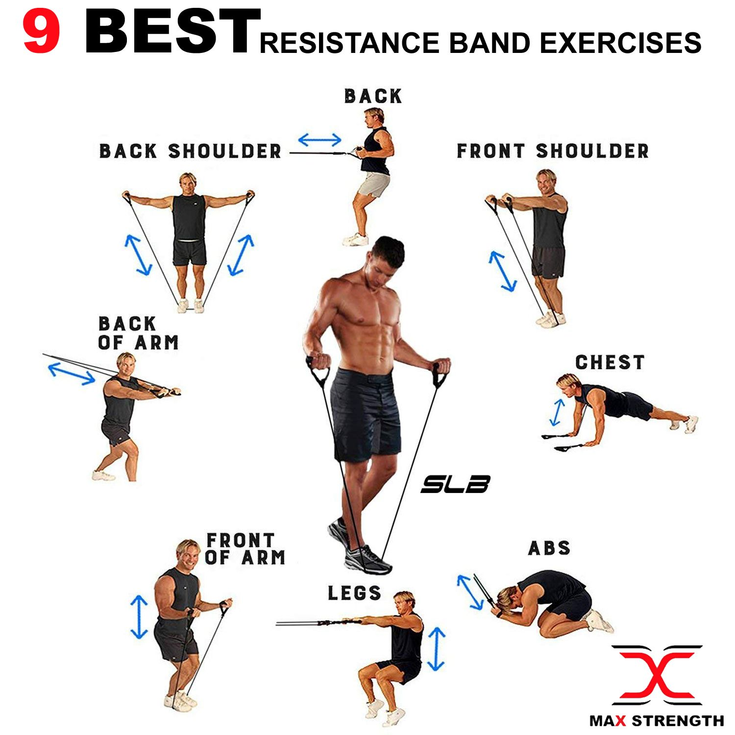 It is a photo of Lucrative Printable Resistance Bands Exercises